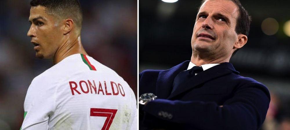 """Reactia lui Max Allegri dupa transferul lui Cristiano Ronaldo la Juventus: """"E un salt calitativ important"""""""