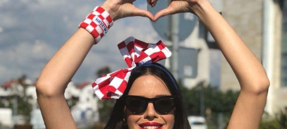 Cea mai SEXY fana a Croatiei e gata de finala cu Franta! Cine este femeia care a cucerit Rusia