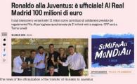 Efectul Ronaldo! Gazzetta dello sport a facut record de trafic pe net in ziua in care a fost prezentat Ronaldo