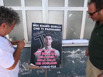 """""""Ma SINUCID!"""" GREVA la fabrica Fiat dupa sosirea lui Cristiano Ronaldo la Juventus! Anuntul angajatilor"""