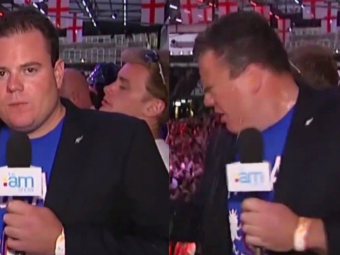 Reporteritele au fost agresate in Rusia, dar el a patit-o cel mai rau! Scena SOC in direct la TV! VIDEO