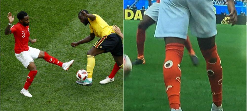 Adevaratul motiv pentru care, mai nou, fotbalistii isi gauresc jambierele! Englezul Danny Rose a iscat o multime de discutii la Mondial