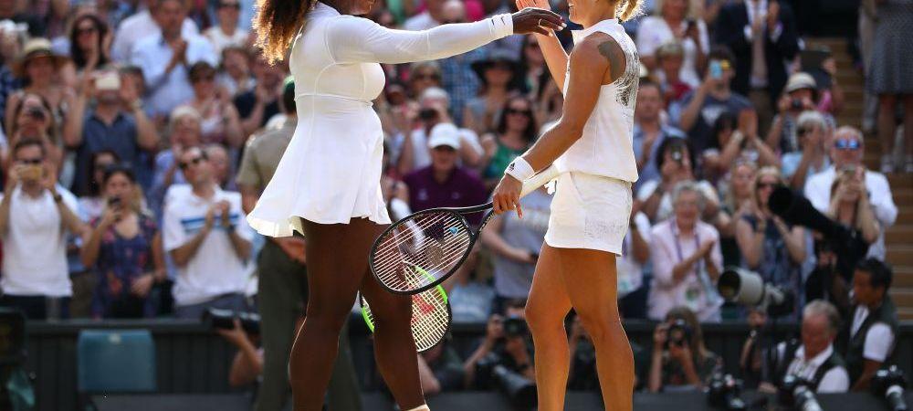 """Reactie SUPERBA a Serenei Williams dupa finala de la Wimbledon: """"Angie e prietena mea, sunt bucuroasa pentru ea!"""""""