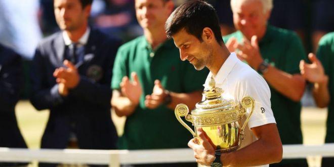 Au si sarbii sarbatoarea lor! Djokovici a castigat finala de la Wimbledon, 3-0 la seturi cu Anderson
