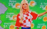 "Sarbatoare in Balcani! ""Magda Palimarova"" de la bulgari s-a imbracat azi in tricoul Croatiei // In Croatia, chiar si cainii politistilor poarta tricoul nationalei :)"