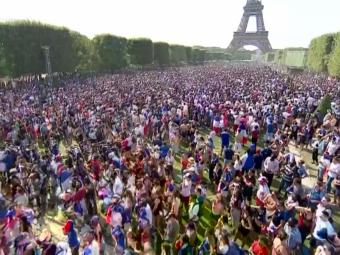 LIVE: Cum traiesc francezii finala la Paris! Transmisiune in direct de la Turnul Eiffel