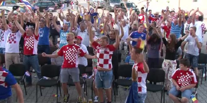 SUPER VIDEO: Cum s-a trait golul lui Perisic in cea mai mare comunitate de croati din Romania