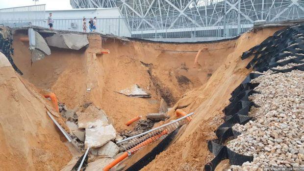 Imagini SOCANTE dupa finalul Cupei Mondiale! Arena de 350 de milioane de euro care a cazut in Volga | GALERIE FOTO