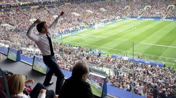 Imagine FABULOASA in vestiarul Frantei! Cum a fost surprins presedintele Macron dupa finala Cupei Mondiale! FOTO