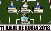 Franta are 5 fotbalisti, Croatia doar unul! Cum arata echipa ideala a Mondialului