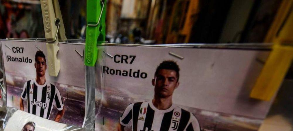 Ronaldo, INAMICUL public numarul 1 la Napoli! FABULOS! Ce au inceput sa vanda napoletanii pe strazi dupa transferul portughezului. FOTO