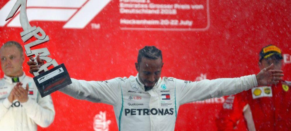 VICTORIE pentru Hamilton in Marele Premiu al Germaniei! Vettel a iesit in decor cand conducea cursa FOTO