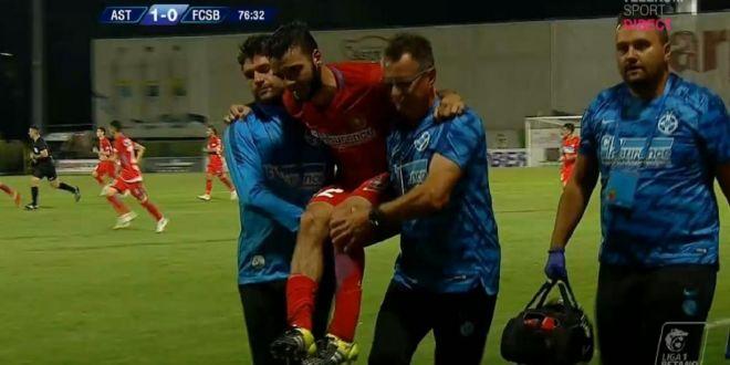 Verdictul primit de Qaka dupa accidentarea suferita la debutul la FCSB! Becali a anuntat cand reintra albanezul pe teren