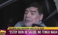"Maradona, ""ANESTEZIAT"" COMPLET la volan! A reusit cu greu sa raspunda la intrebarile unui reporter: VIDEO"