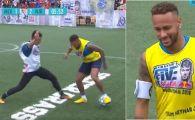 A vrut sa se dea in spectacol, dar nu prea i-a iesit! Faza la care un amator l-a deposedat pe Neymar dupa o serie de scheme DEGEABA