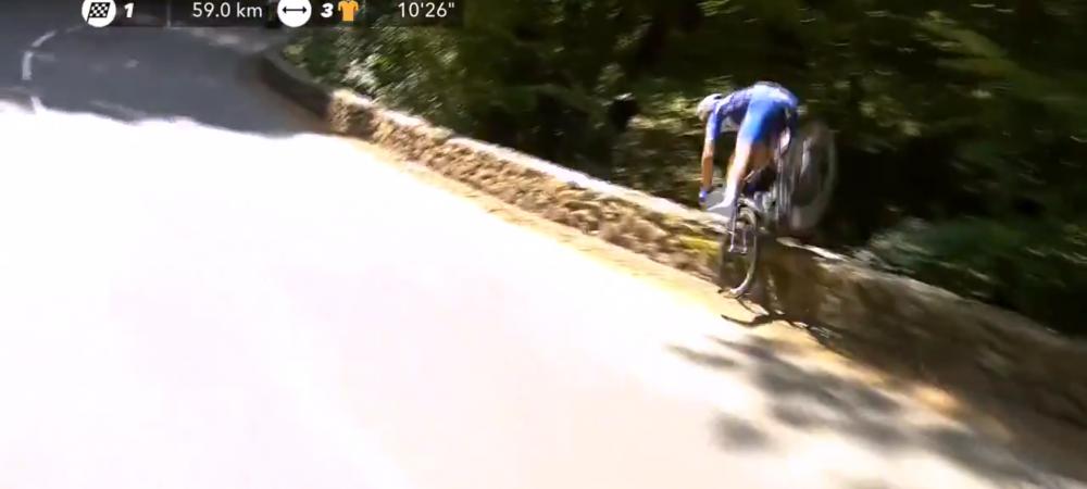 Imagini SOCANTE in Turul Frantei! Se afla la conducerea cursei cand cazut in prapastie   VIDEO