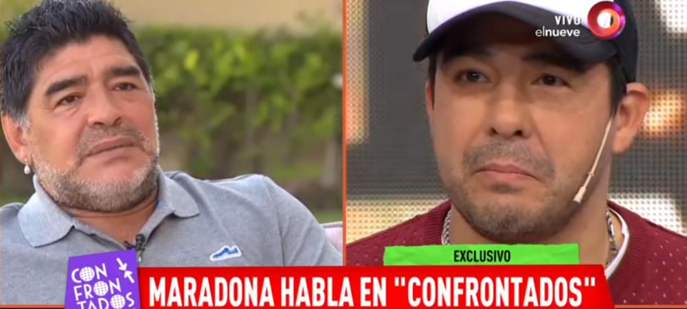"""Maradona a intrat in direct la TV si si-a atacat propriul nepot: """"E cel mai mare LAS din lume! A furat bani de la mine si mi-a distrus masinile!"""""""
