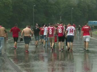 ULTIMA ORA   Derby in noroi? Acoperisul de pe National Arena nu a fost tras, in Bucuresti ploua torential
