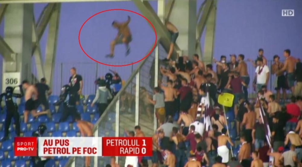 VIDEO // Meciul de prezentare al Petrolului, cu Rapid, stricat de huligani! Ploiestenii au castigat cu 1-0