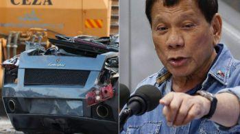 Sute de bolizi Porsche si Lamborghini, DISTRUSI sub ochii presedintelui! Tara care le-a declarat razboi traficantilor. VIDEO