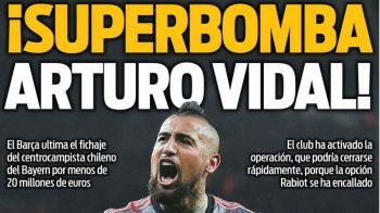 Vidal, la Barcelona! MOTIVUL pentru transferul surprinzator al mijlocasului de la Bayern!