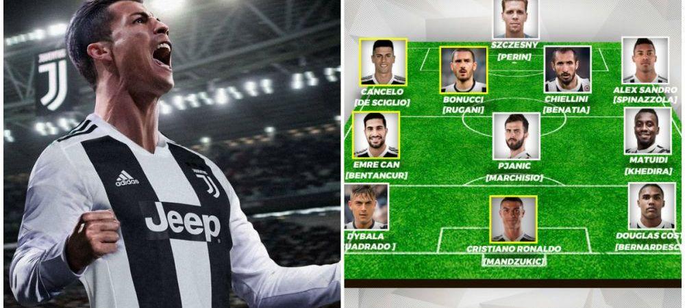 Juventus, echipa de peste 500 de milioane de euro! E suficient ca se bata cu Real si Barca? Cum arata primul 11 dupa venirea lui Ronaldo