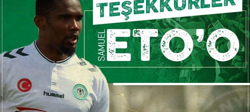 Drama lui Eto'o la 36 de ani! A fost dat afara din Turcia. Ce s-a intamplat