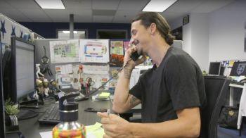 """""""Ce faci, bossule? Aici e Zlatan!"""" Surpriza COLOSALA pentru un fan de la LA Galaxy! Motivul pentru care a fost sunat de Ibrahimovic"""