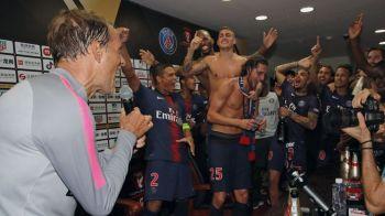 Imagini FABULOASE cu Neymar dupa Supercupa Frantei! L-a facut VARZA pe Tuchel in vestiar. Neamtul a luat microfonul. Ce a urmat