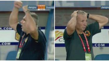 Nebunie in derby-ul din China: Olaroiu 3-1 Petrescu! Echipa lui Oli a intors in 3 minute rezultatul, SuperDan a facut crize pe banca dupa ratari uriase! VIDEO