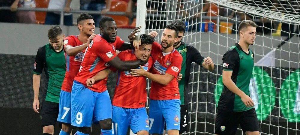 FCSB 4-0 POLI IASI   Dica e incantat de atacanti dupa show-ul cu Iasi! Prima reactie dupa 4-0 cu Poli