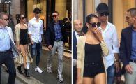Isterie in Italia! Ce s-a intamplat cand Ronaldo a iesit la cumparaturi cu sotia pe strazile din Milano. VIDEO