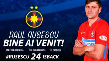 """RUSESCU, FCSB   """"Inapoi acasa!"""" FCSB a anuntat OFICIAL revenirea lui Rusescu: """"Astept cu nerabdare sa redebutez!"""""""