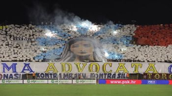 "HAJDUK - FCSB 0-0 | ""Asta e BLASFEMIE!"" Reactia lui Becali cand a vazut coregrafia cu Fecioara Maria de la Split. VIDEO"