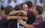 Ce gol, ce bijuterie! Higuain a avut nevoie de doar 4 minute pentru a marca in tricoul lui Milan   VIDEO