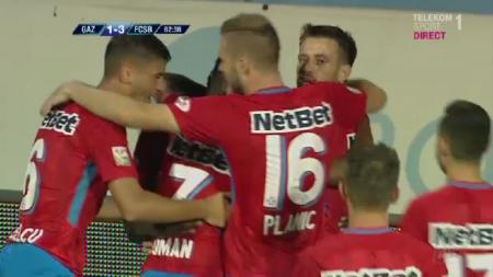 FCSB, alta echipa dupa pauza: 3-1 cu Gaz Metan! Stelistii sunt cu gandul la marele meci cu Hajduk, joi la PRO TV