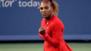 Victorie clara pentru Serena Williams la revenirea in circuit! Duel greu pentru americanca in turul doi la Cincinnati