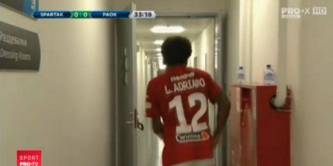 VIDEO | Aproape de un nou  episod Radoi  in preliminariile Ligii! Reactie NERVOASA a lui Luiz Adriano dupa ce a fost eliminat in meciul cu PAOK: imagini de la vestiare