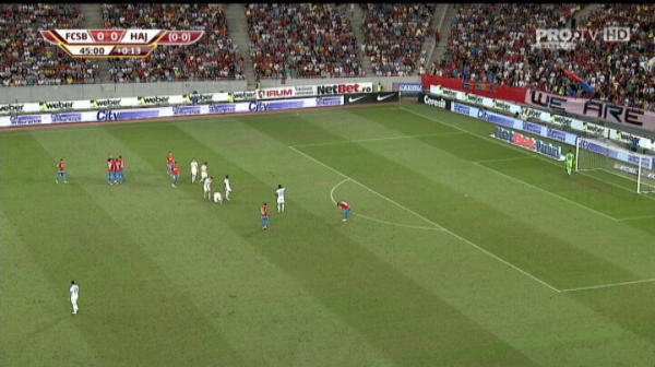 Tanase, cartonas galben FCSB Hajduk