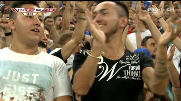 Gnohere inscrie din penalty, FCSB - Hajduk 1-0