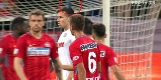Ce risca FCSB dupa ce Nedelcu a fost lovit in cap de o bucata de scaun aruncata din peluza