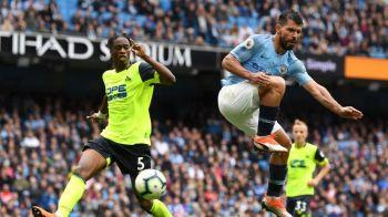 Reusita FABULOASA a lui Aguero! Cum a marcat argentinianul in Man City - Huddersfield. Portarul n-a avut replica   VIDEO