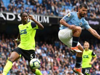 Reusita FABULOASA a lui Aguero! Cum a marcat argentinianul in Man City - Huddersfield. Portarul n-a avut replica | VIDEO