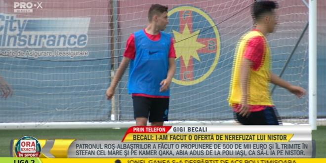 Ce rivalitate? Noi nu l-am dat pe Danciulescu la Dinamo?  Becali, ultimele noutati despre transferul lui Nistor