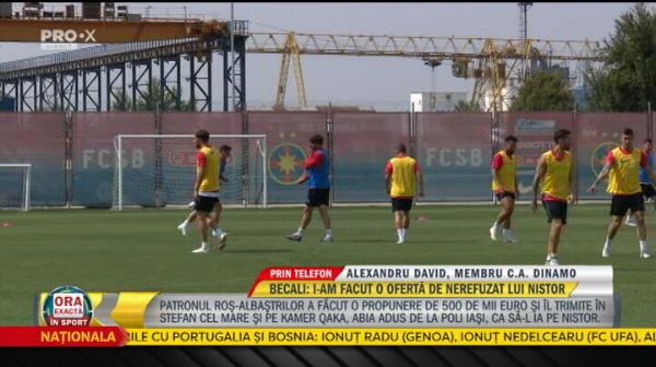 "Alexandru David, Dinamo: ""Nu exista nicio posibilitate ca Nistor sa plece la FCSB!"""