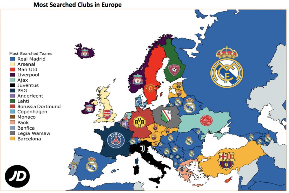 Topul celor mai cautate echipe de fotbal pe internet! Care e cea mai iubita formatie de catre fanii romani
