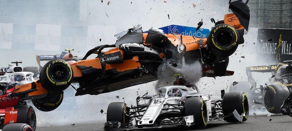 IMAGINI SOCANTE pe pista! Accident teribil in Marele Premiu al Belgiei: Fernando Alonso, aproape de tragedie | FOTO&VIDEO