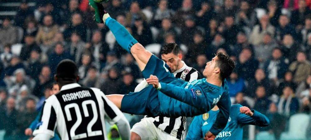 Reactia lui Cristiano Ronaldo dupa ce a castigat cursa pentru cel mai frumos gol din Champions League, marcat chiar in poarta lui Juventus