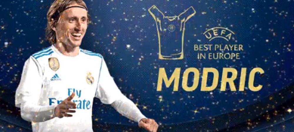 FIFA THE BEST | Luka Modric, jucatorul anului in UEFA Champions League! Croatul a luat si titlul pentru cel mai bun mijlocas; Ronaldo, cel mai bun atacant