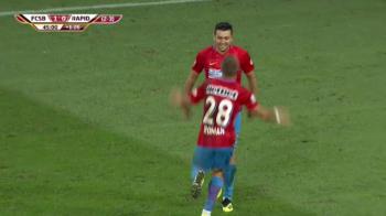 VIDEO GOOOOOL si National Arena explodeaza! Vezi reusita lui Mihai Roman pentru 2-0 cu Rapid Viena